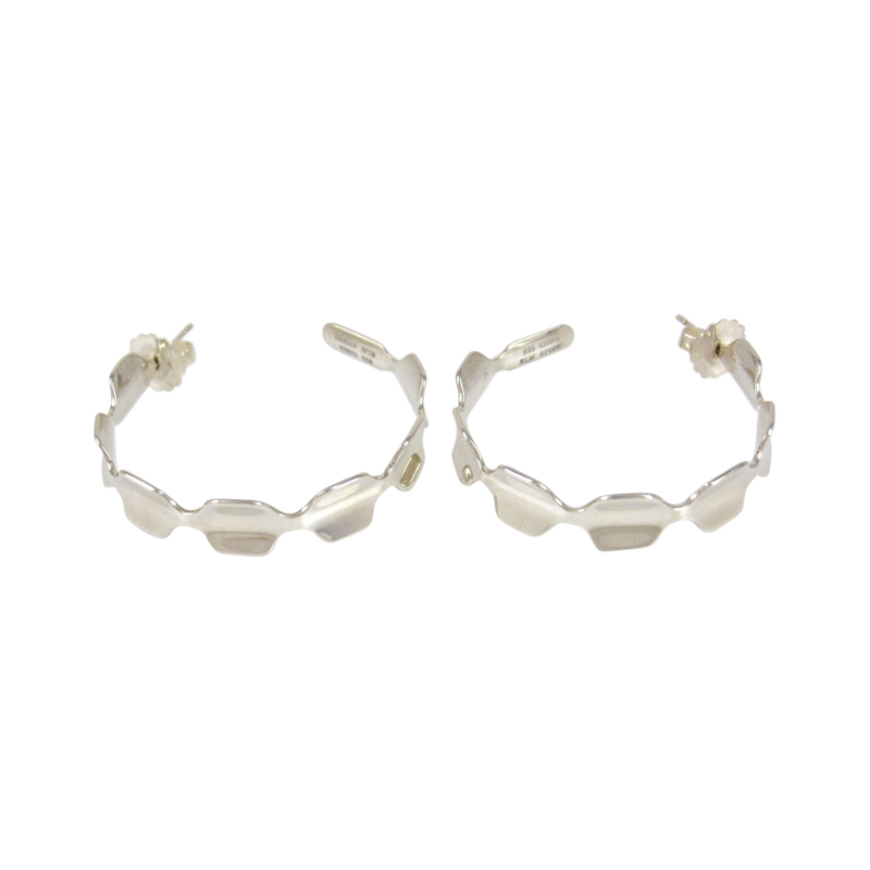 "Image of ""Robert Lee Moris 925 Sterling Silver Hoop Earrings"""