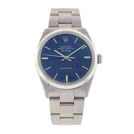 Rolex Air-King 5500 Stainless Steel Automatic Oyster Blue 34mm Mens Watch