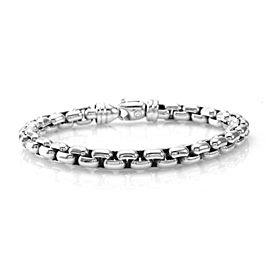 David Yurman 925 Sterling Silver Box Link Bracelet