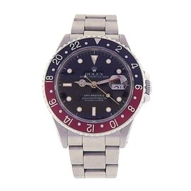 Rolex GMT Master II 16710 Stainless Steel Automatic Oyster Red Black 40mm Mens Watch