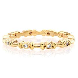 Hidalgo 18K Rose Gold & Diamond with Bones Eternity Band Ring Size 6.25