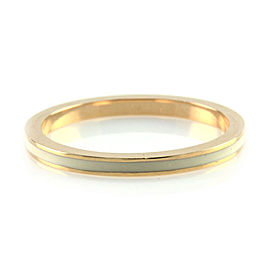Hidalgo 18K Rose Gold & White Enamel Stackable Eternity Band Ring Size 6.25
