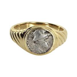 Bulgari 18K Yellow Gold Ancient Coin Ring Size 5.75