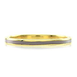 Hidalgo 18K Yellow Gold & Light Purple Enamel Stackable Eternity Band Ring Size 6.5