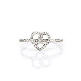 Hidalgo 18K White Gold & Diamond Heart Ring Size 6.25