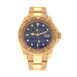 Rolex Yacht Master 16628 18K Yellow Gold Blue Dial Automatic 40mm Mens Watch