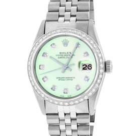 Rolex Datejust 16014 Stainless Steel & 18K White Gold Diamond 36mm Watch