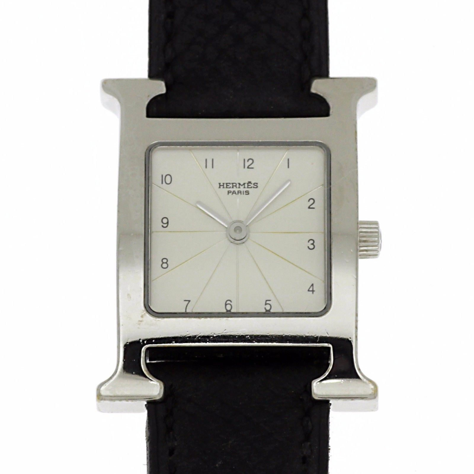 """Image of """"Hermes H Watch Watches Rs1.205 Stainless Steel Leather Women Watch"""""""