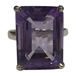 Tiffany & Co. 925 Sterling Silver Amethyst 8.50ct. Ring Size 8