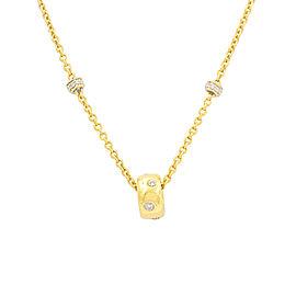Aaron Basha 18K Yellow Gold 0.48ctw. Diamond Station Necklace
