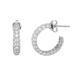 Tiffany & Co. Platinum with 2.50ct Diamond Etoile Hoop Earrings