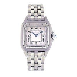 Cartier Panthere 1320 Stainless Steel Roman Numbers Quartz Movement 22mm Womens Watch