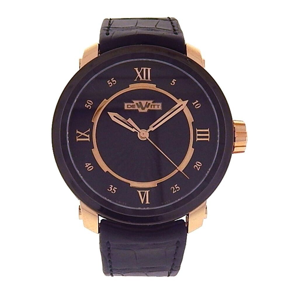 "Image of ""Dewitt Twenty-8-Eight T8.au.011 Black PVD and 18k Rose Gold Automatic"""