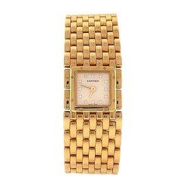 Cartier Panthere 2449 18K Yellow Gold Diamond Markers Quartz 21mm Womens Watch