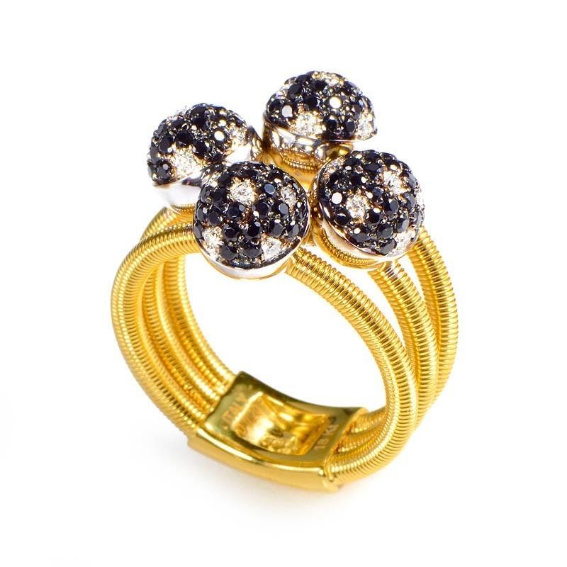 "Image of ""Della Riva 18K Yellow Gold Multi Diamond Spheres Ring Size 7"""