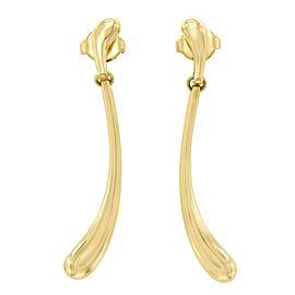 Tiffany & Co. Elsa Peretti 18K Yellow Gold Long Tear Drop Earrings
