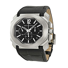 Bulgari OCTO Steel Chronograph 41mm Black Mens Watch BGO41BSLDCH