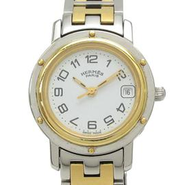 Hermes Clipper CL4 .220 Stainless Steel and Gold Plated Quartz 25mm Womens Watch