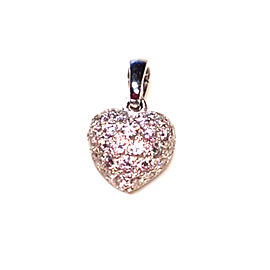 Cartier Pave Diamond 18k White Gold Heart Pendant