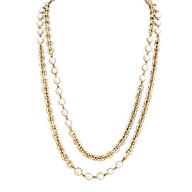 Chanel Metal Imitation Pearl Necklace