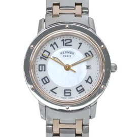 Hermes Clipper CP1.321 Pink Gold and Stainless Steel Quartz 27mm Mens Watch