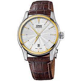 Oris Artelier 0173376704351-0712173FC Stainless Steel & Leather 40mm Watch