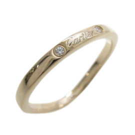 Cartier 18K Rose Gold Ballerina 3P Diamond Ring Size 4.75