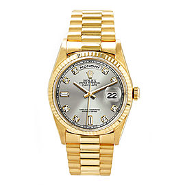 Rolex Day-date Yellow Gold Diamond, Sapphire Mens Watch