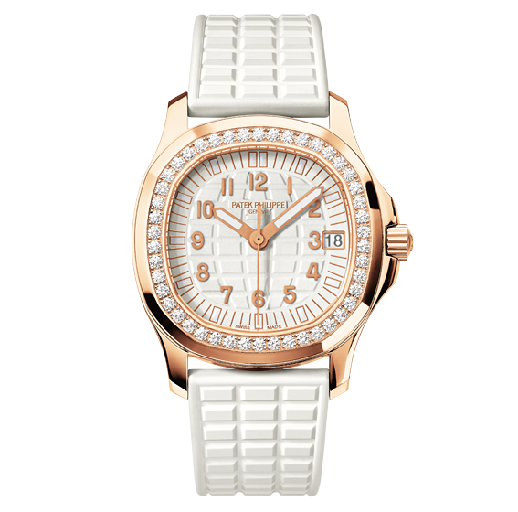 Patek Philippe Aquanaut 5068R-010 18K Rose Gold Rubber & Diamond