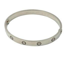 Cartier Love 18K White Gold Bracelet Size 18