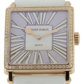 Roger Dubuis Golden Square 18K Rose Gold with Diamond Bezel Womens 37mm Watch