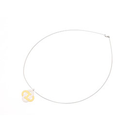 Hermes 925 Sterling Silver/Gold Plated Necklace