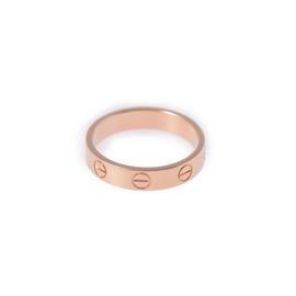 Cartier Mini Love 18K Rose Gold Ring Size 4.75