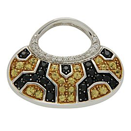 Mirabelle 18K White Gold with Yellow Sapphire Black & White Diamond Purse Pendant
