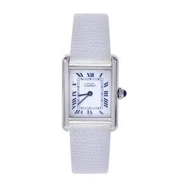 Cartier Must de Tank 1614 Sterling Silver Quartz 20.5mm Womens Watch