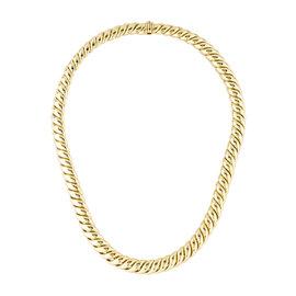 David Yurman Hampton Cable 18K Yellow Gold Link Necklace