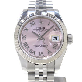 Rolex Datejust Stainless Steel & White Gold Automatic 26mm Womens Watch