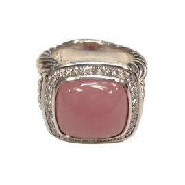 David Yurman Sterling Silver Diamond Ring Size 7