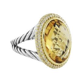 David Yurman 18K Yellow Gold with Citrine & Diamond Womens Bracelet