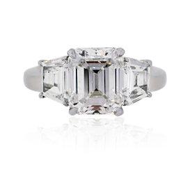 Platinum with 3.02ct Diamond Engagement Ring Size 5.25