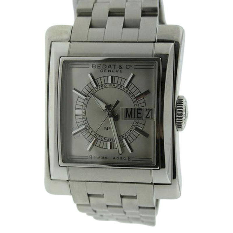 "Image of ""Bedat & Co. #7 Day-Date Stainless Steel 39mm Watch"""