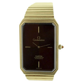 Omega Constellation 18K Yellow Gold Mens Watch