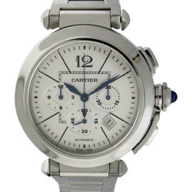 Cartier Pasha Seatimer Chronograph With Date Stainless Steel 41mm Mens Watch