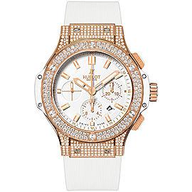 Hublot Big Bang 301.PE.2180.RW.1704 18K Rose Gold with White Dial 44mm Mens Watch
