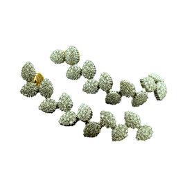 Damiani 18K White & Rose Gold Diamond Leaf Earrings