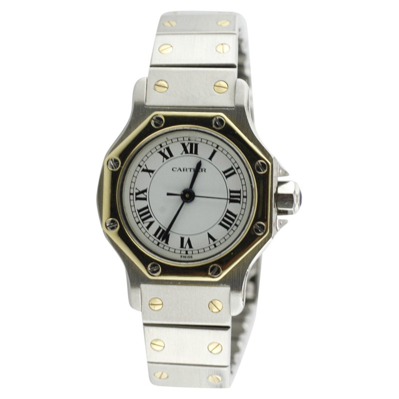 "Image of ""Cartier Ronde Santos Stainless Steel & 18K Yellow Gold 25mm Watch"""