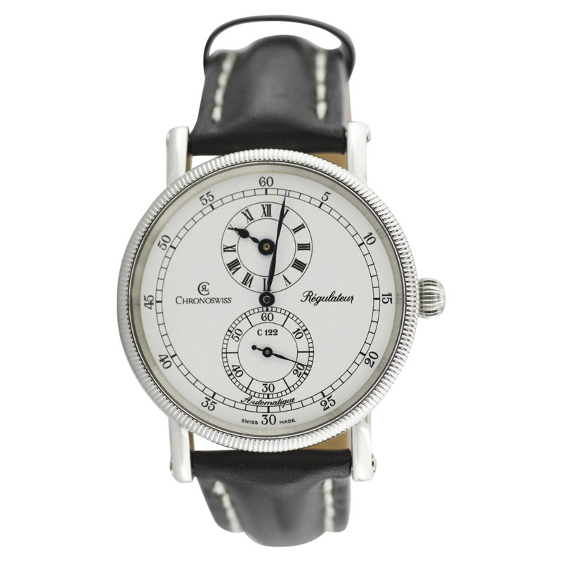 "Image of ""Chronoswiss Regulateur C122 Stainless Steel & Leather Automatic 38mm"""