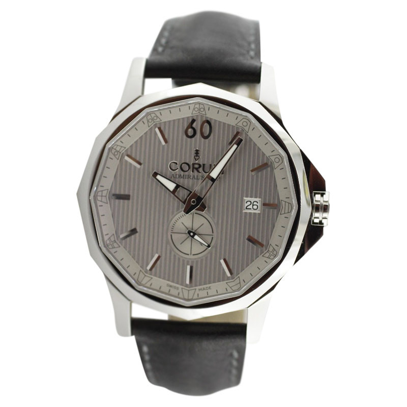 """Image of """"Corum Admirals Cup Legend Stainless Steel Leather Strap Watch"""""""
