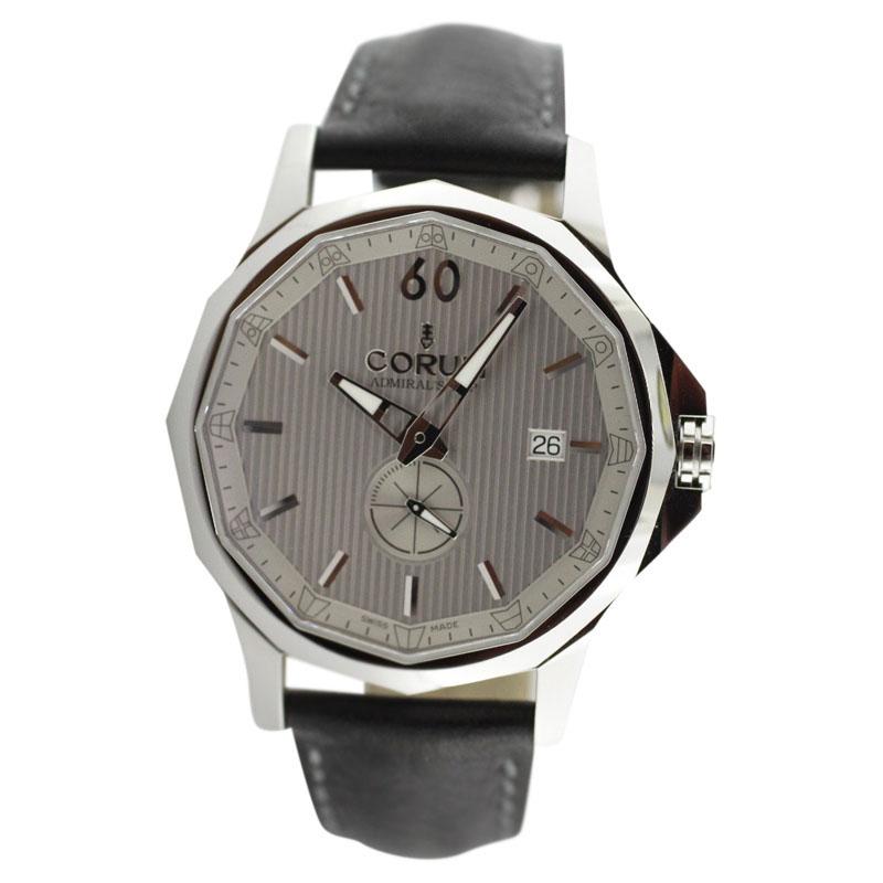 """""Corum Admirals Cup Legend Stainless Steel Leather Strap Watch"""""" 594570"