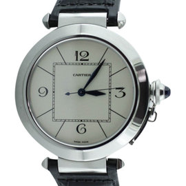 Cartier Pasha Stainless Steel & Leather 42mm Watch